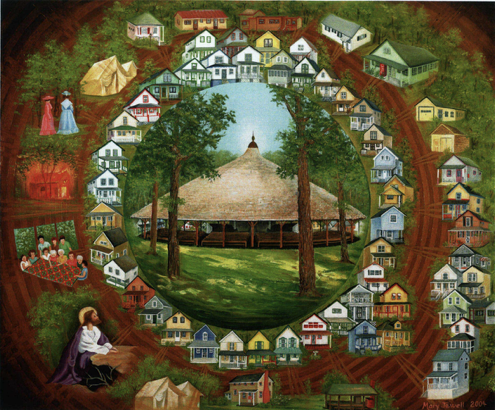 centennial painting of the cottages